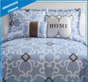 Light Blue Collection Printed Cotton Quilt Cover pictures & photos