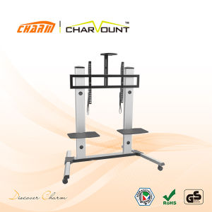 Aluminum TV Mount with Stand for Bedroom, TV Bracket Wall Mount (CT-FTVS-T403) pictures & photos
