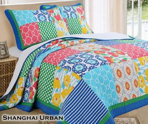 Modern Design Soft Hand Feel Cotton Bedspread Patchwork Quilt pictures & photos