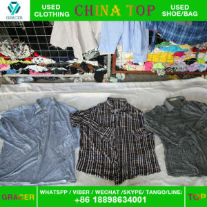 Provide High Quality Second Hand Clothing Man Shirt in Bulk pictures & photos