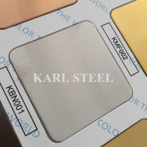 410 Stainless Steel Silver Color Hairline Kbh004 Sheet pictures & photos