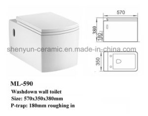 Ceramic Wall-Hang Toilet Bowl Square Shape (ML-590) pictures & photos