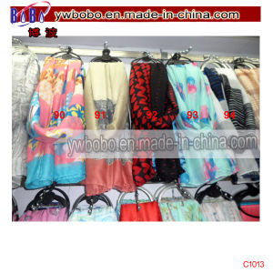 Yiwu China Market Shipping Agent Polyester Scarf Stock (C1013) pictures & photos