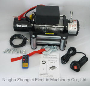 SUV DC 12V off-Road Electric Winch with Wireless Remote Kit (12000lb-1) pictures & photos