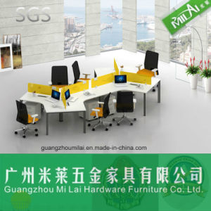 Traditional Modular Office Wooden Workstation Table with Desktop Partition pictures & photos