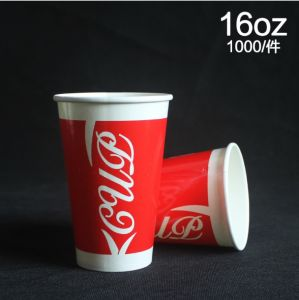500 Ml Disposable Paper Cold Drinking Cup/ pictures & photos