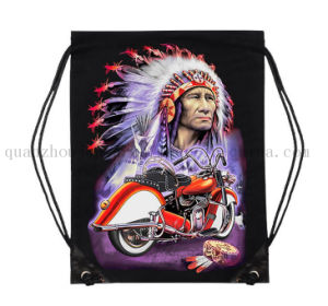 Custom 3D Print Cotton Sport Drawstring Bag for Promotion pictures & photos