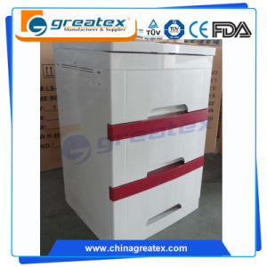 Hospital Beside ABS Plastic Storage Cabinets with Three Drawers (GT-TA100) pictures & photos