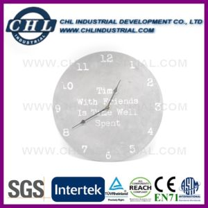 China Supplier Natural Stone Decorative Mounted Concrete Wall Clock pictures & photos