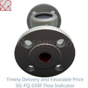 Ball Type Customized Flange Sight Flow Indicator for Liquids pictures & photos