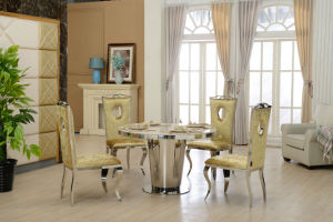 Marble Top Round Dining Table in Malaysia pictures & photos