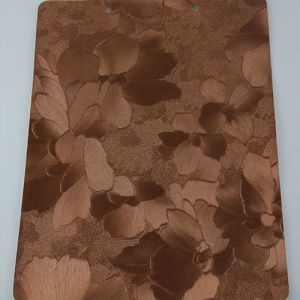 High Quality Irregularity Flower PU PVC Imitation Leather for Decorative pictures & photos