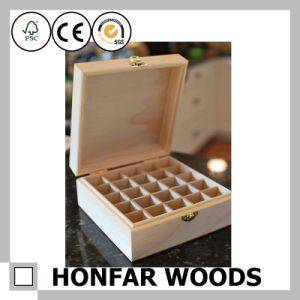 Unfinished Raw Wooden Essential Oil Box Storage Box pictures & photos
