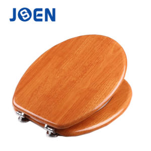 17/18/19 Inch MDF Veneer Mouled Wood Toilet Seat Cover pictures & photos