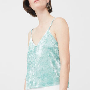 Ladies Fashion Velvet Condole Belt Vest Blouse pictures & photos
