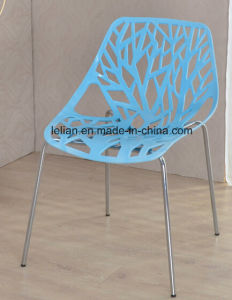 Wink Plastic Armless Stacking Guest Chair with Chrome Legs (LL-0036) pictures & photos