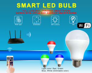 E27 Base WiFi Dimmable and RGB Bulb LED Light pictures & photos