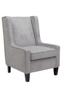 Gray Fabric Accent Chair with Wood Frame pictures & photos