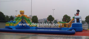 Inflatable Water Park, Pirate Cove Slide with Water Pool pictures & photos
