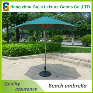 Wholesale Wooden Waterproof Convenient Easy up Market Umbrellas