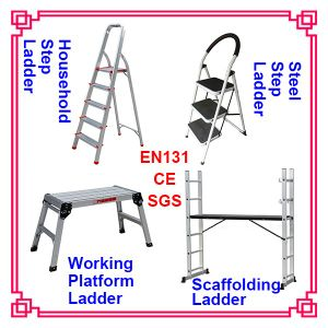 3.8m Super Aluminium Telescopic Ladder with Soft Close System En131-6 Standard pictures & photos