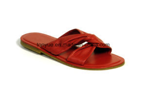 Lady Leather Rubber Outsole Leisure Stuffies pictures & photos