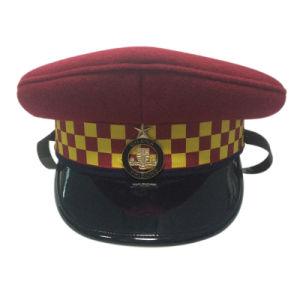 Custom Design Red Police Cap pictures & photos