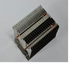 2heat Pipe Aluminum Extrusion LED Light Heatsink pictures & photos