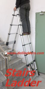 3 Position Telescopic Ladder 3.2m/3.8m/4.4m/5m pictures & photos