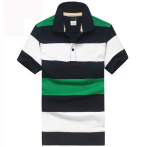 Colorful Stripe Sports Polo Tshirt pictures & photos