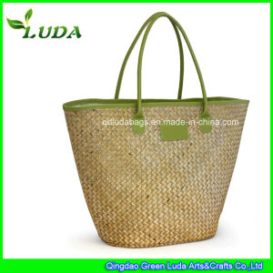 Plain Water Grass Straw Women Beach Bag 2015