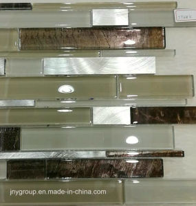 Glass Mosaic Mix Metal with Wall Paper Design pictures & photos