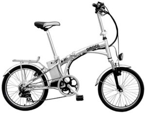 White Silver Blue Black Folding Electric Bicycle E Bike City Scooter with Shimano 7 Speed Gears pictures & photos
