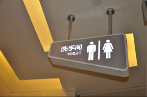 Outdoor Washroom Acrylic Hanging LED Light Directory Sign pictures & photos