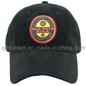 Print Applique Embroidery Washed Cotton Twill Sport Golf Cap (TMB9023) pictures & photos