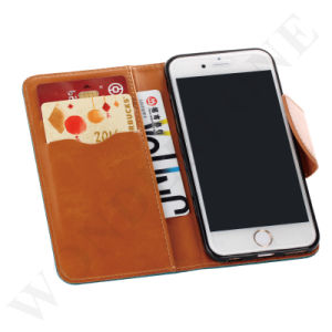 High Quality Wallet Flip Leather Mobile Phone Case for iPhone 6/ 6s pictures & photos