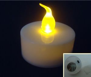 LED Candle Light Wholesale White Swing Pillar Flameless for Wedding pictures & photos