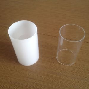 Plastic Products PMMA Tube White Color pictures & photos