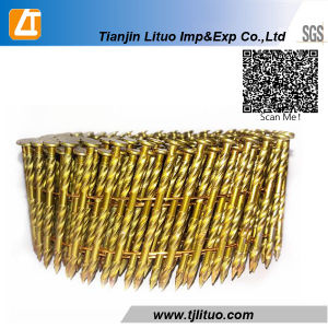 15 Degree Pneumatic Pallet Coil Nails Smooth Twisted Shank Clavos Helicoidales Pregos Em pictures & photos