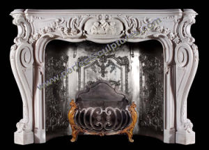 Stone Fireplace Mantel with Marble Granite Limestone Sandstone (QY-LS371) pictures & photos