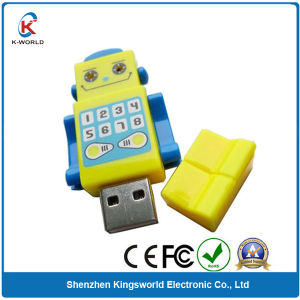 PVC Customized Robbot USB Flash Drive pictures & photos