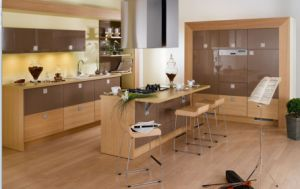 Competitive Melamine Faced E1 or E0 Particleboard/MDF Kitchen Cabient (MN-2) pictures & photos