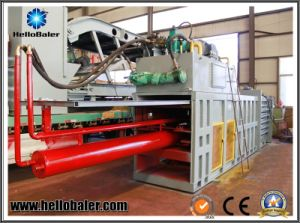 Hellobaler Horizantol Hydraulic Press Baling Machine for Plastic Recycling pictures & photos