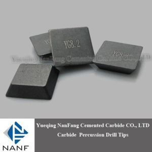 Tungsten Carbide Tips Yg8.2 for Stone Breaking 13X13X3.4mm