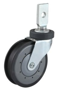 PU Wheel Shopping Trolley Caster (One Groove) pictures & photos