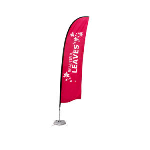 9.8 Ft Wing Banner with Cross Water Bag Base