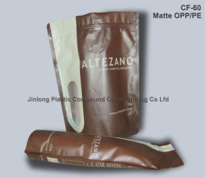Plastic Botttom Gusset Valve Coffee Bag with Zipper pictures & photos