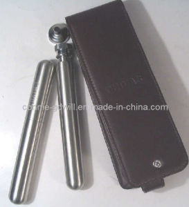 Stainless Steel Cigar Tube & Hip Flask Set (CF-160HPU)