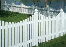 Ce Certificated Yard PVC Picket Fence pictures & photos