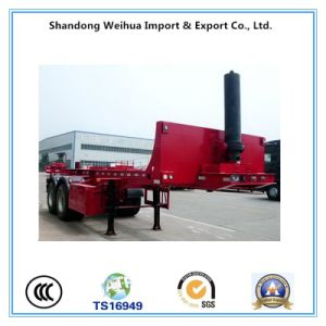 20FT / 40FT Flatbed Container Semi Trailer with Dump Function pictures & photos